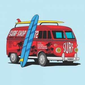 Painel Fotográfico Kombi Surf Shop