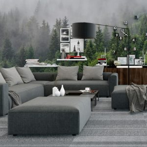 Painel Fotográfico Natureza Floresta com Neblina