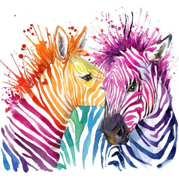 Painel Fotográfico Zebra Colorful