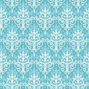 Papel de Parede Adesivo Arabesco Azul Claro