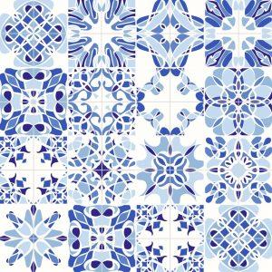 Papel de Parede Adesivo Azulejo
