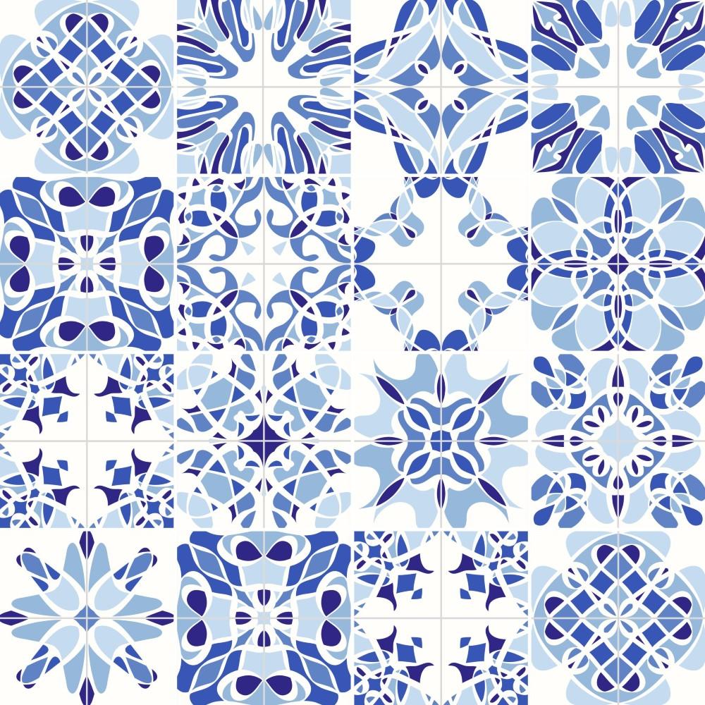 El Armario Nequi ~ Papel de Parede Adesivo Azulejo 047 StickDecor