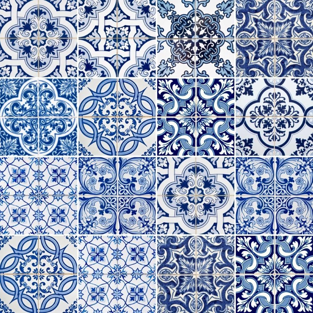 Kit de adesivo azulejo azul e branco stickdecor - Azulejo 15x15 ...