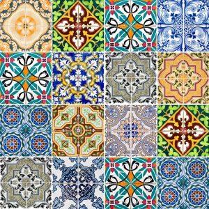 Papel de Parede Adesivo Azulejo Classico