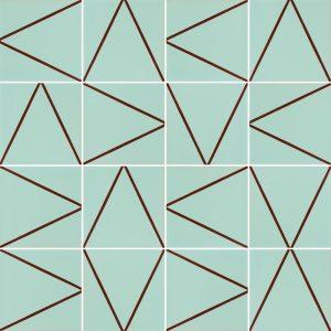 Papel de Parede Adesivo Azulejo Linhas