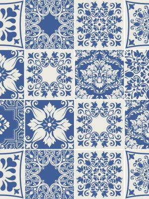 Papel de Parede Adesivo Azulejo Portugues