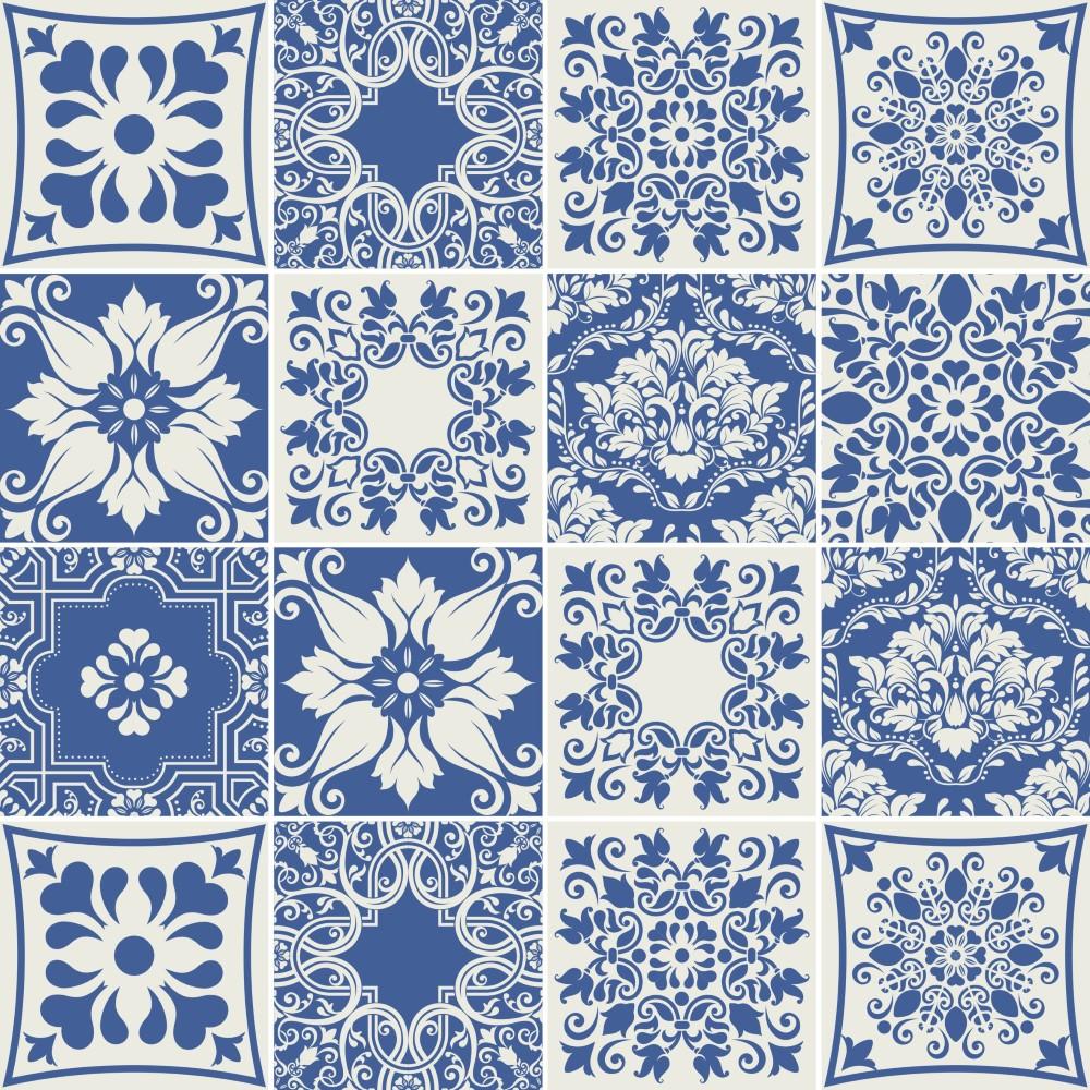 Artesãos Significado ~ Desenho Azulejo Portugues Colorido Mas Kit Adesivo Azulejo Portugus Por R Na Uca Sem Costura