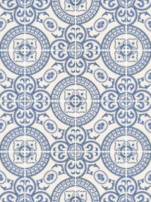 Papel de Parede Adesivo Azulejo Português