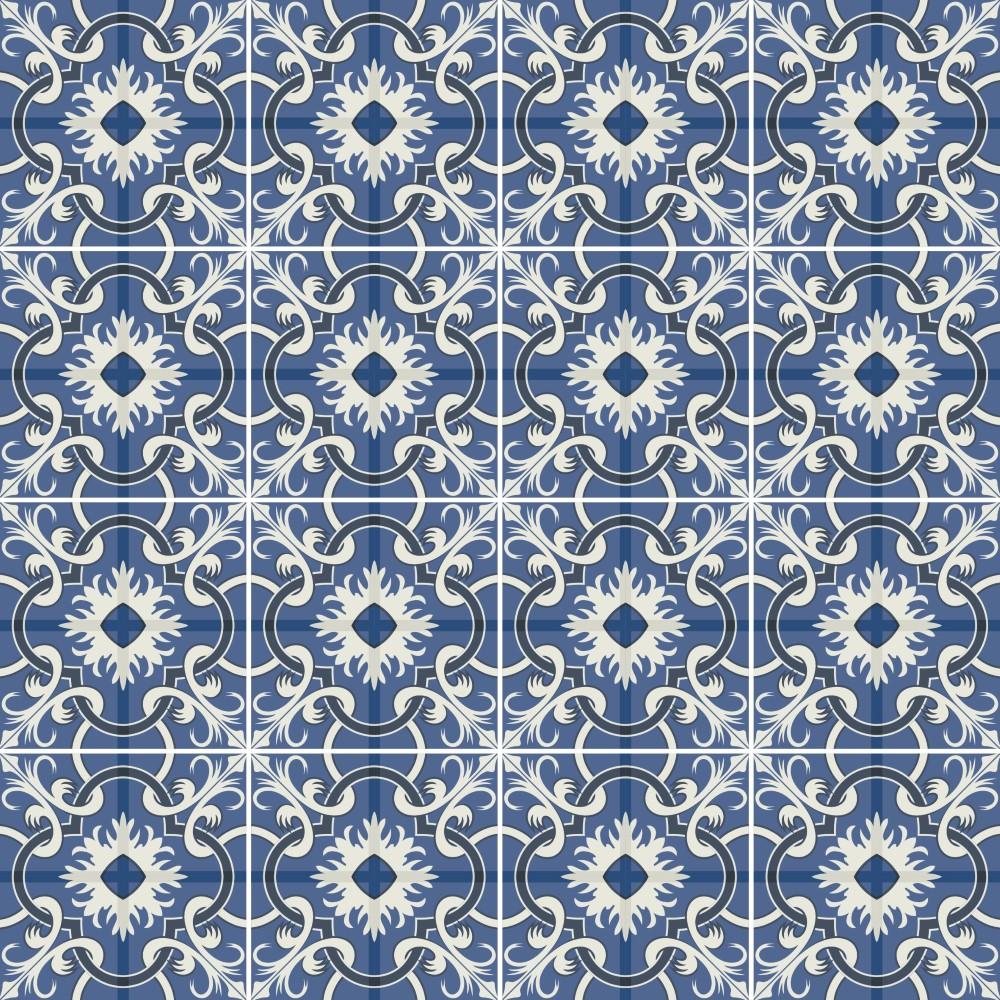 Papel de parede adesivo azulejo portugues 069 stickdecor for Papel para azulejos de bano