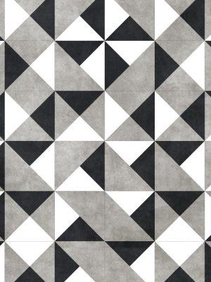 Papel de Parede Adesivo Azulejo Preto Branco e Cinza