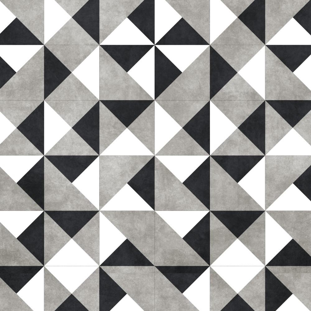 Papel de parede adesivo azulejo preto branco e cinza - Papel para azulejos de bano ...