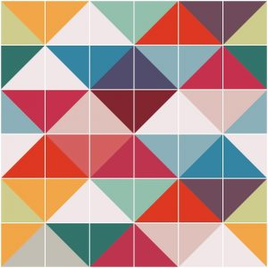Papel de Parede Adesivo Azulejo Retro Colorido
