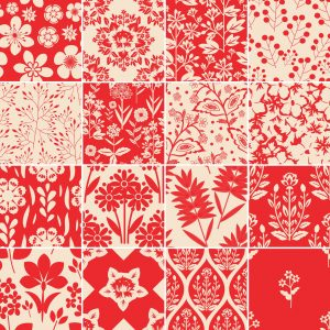 Papel de Parede Adesivo Azulejo Vermelho