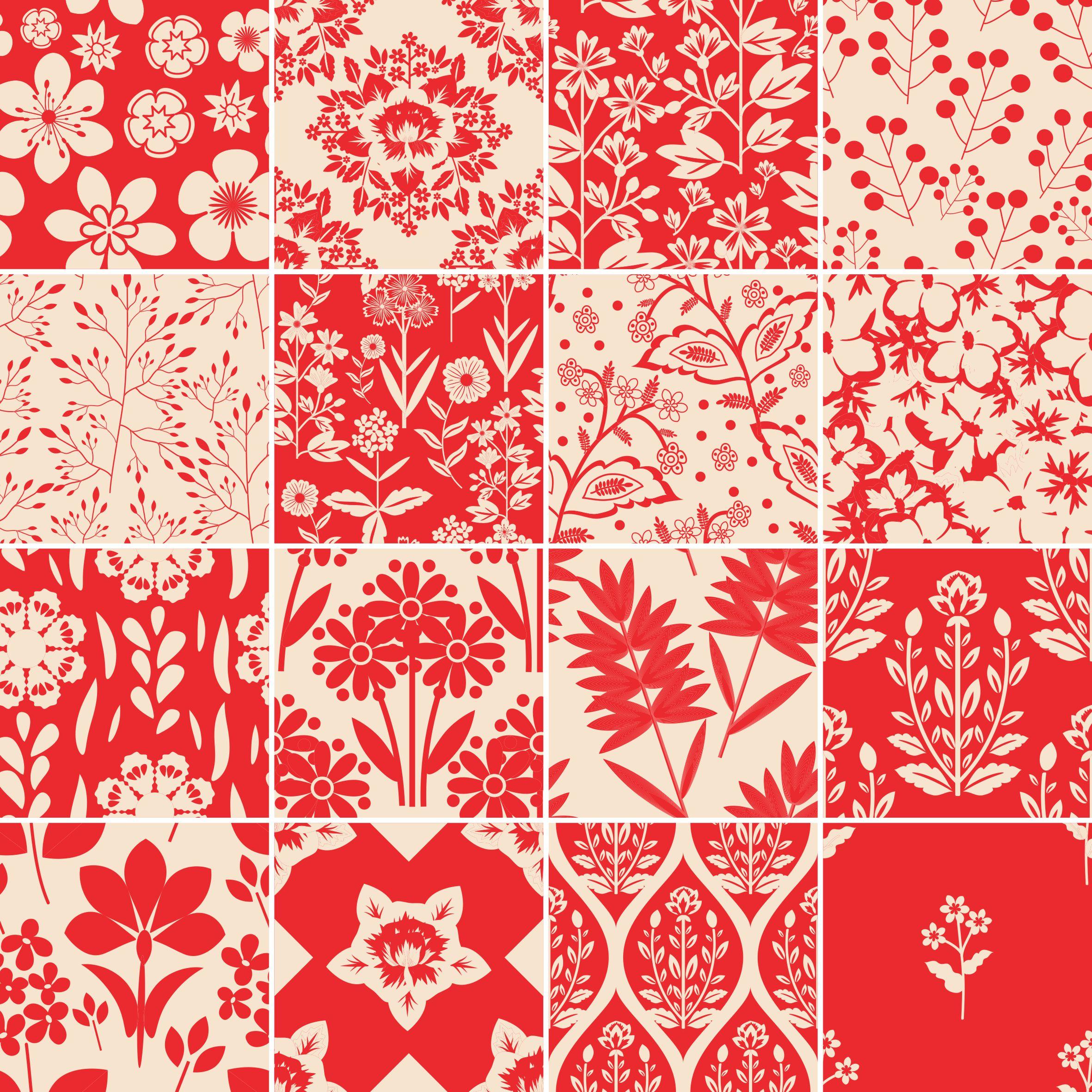 Papel de parede adesivo azulejo vermelho stickdecor - Cenefas de papel para paredes ...