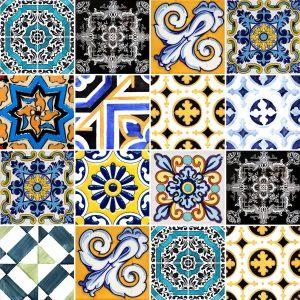 Papel de Parede Adesivo Azulejo Vintage Antique