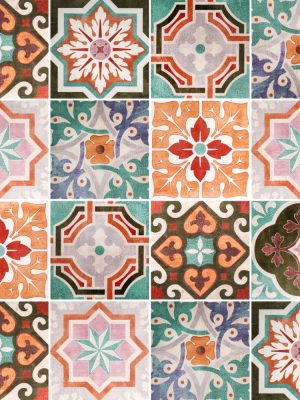 Papel de Parede Adesivo Azulejo Vintage