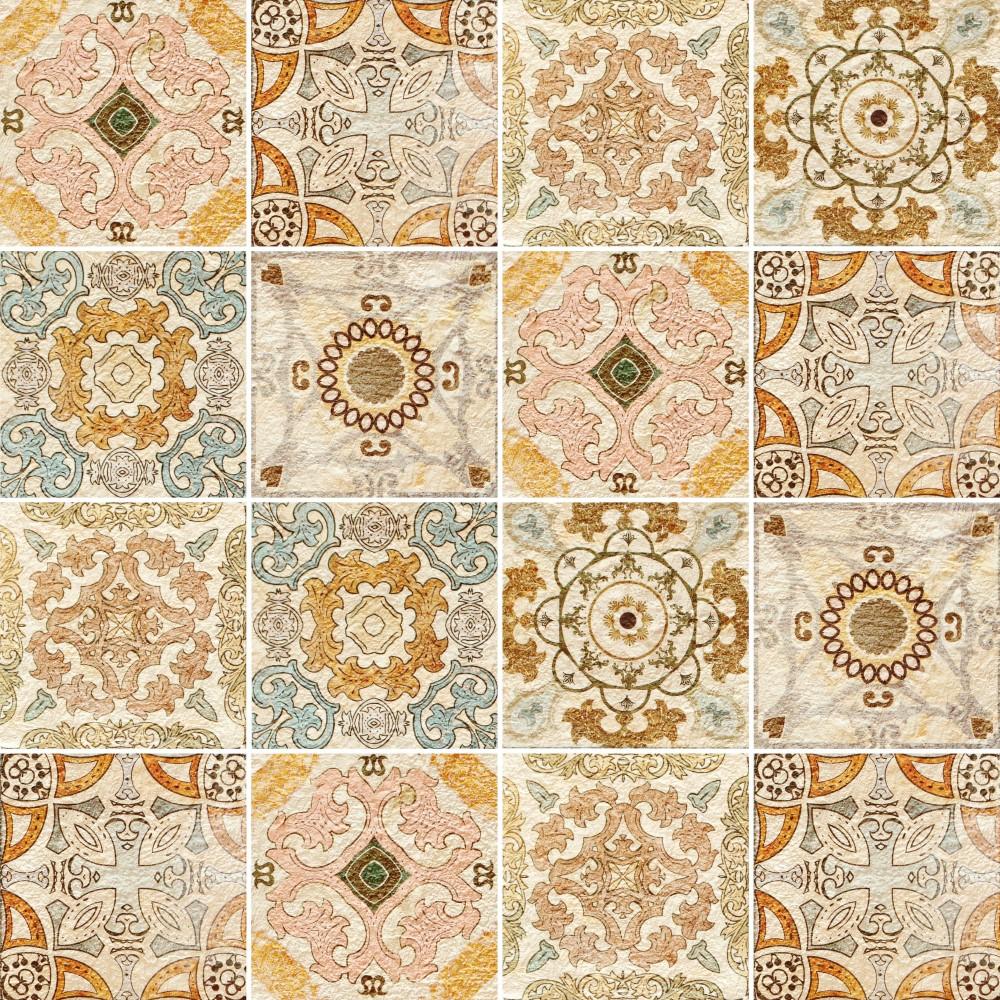Papel de parede adesivo azulejo vintage paper stickdecor - Azulejos vintage ...