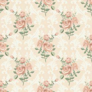 Papel de Parede Adesivo Floral com Arabesco
