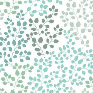 Papel de Parede Adesivo Floral Degradê Verde