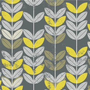 Papel de Parede Adesivo Floral Folhas Geométricas