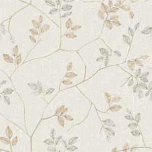 Papel de Parede Adesivo Floral Galhos Bege