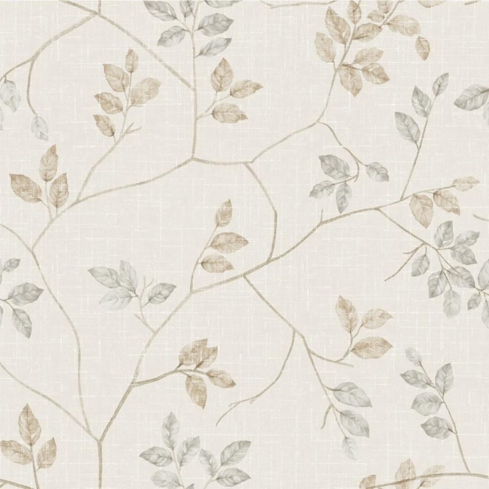 Papel de parede adesivo floral galhos bege stickdecor - Papel adhesivo para paredes ...
