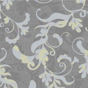 Papel de Parede Adesivo Floral Galhos Cinza