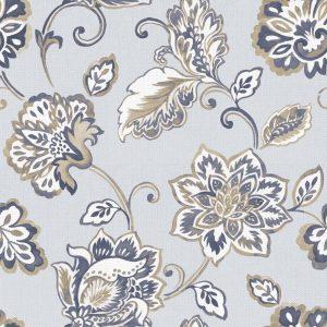 Papel de Parede Adesivo Floral Rosas Azuis