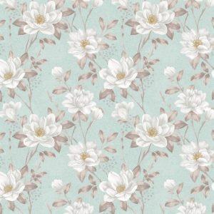Papel de Parede Adesivo Floral Rosas Brancas