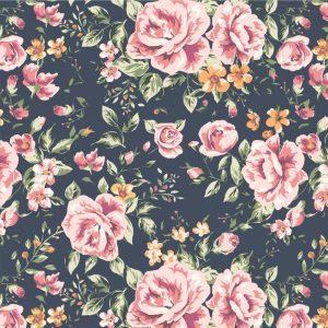 Papel de Parede Adesivo Floral Rosas