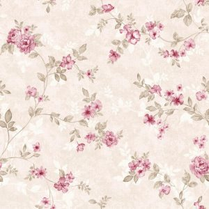 Papel de Parede Adesivo Floral Rosinhas