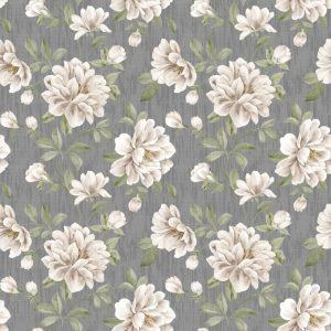 Papel de Parede Adesivo Floral Vintage Cinza