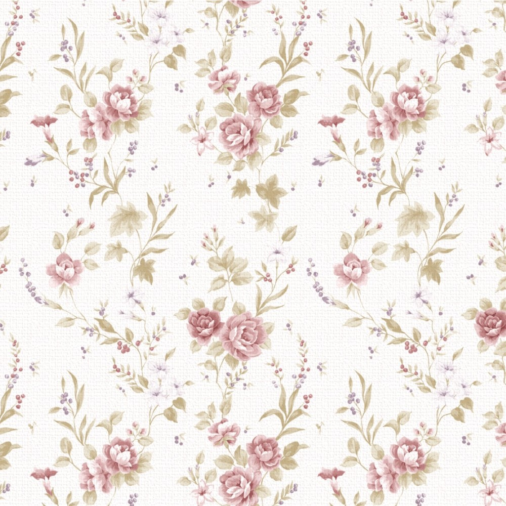 Papel de parede adesivo floral vintage 092 stickdecor for Papel de pared rustico
