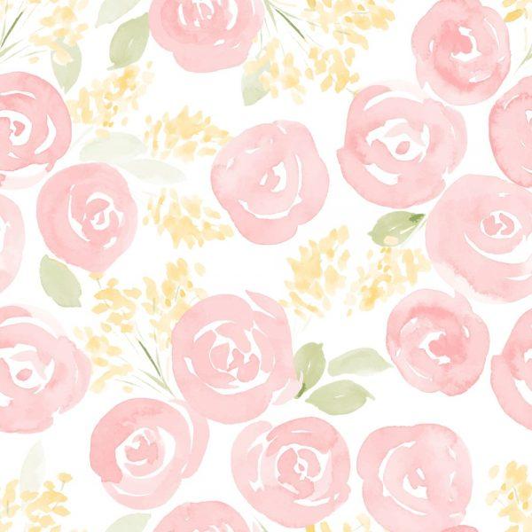 Papel de Parede Adesivo Floral Watercolor Nursery