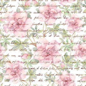 Papel de Parede Adesivo Floral Writing