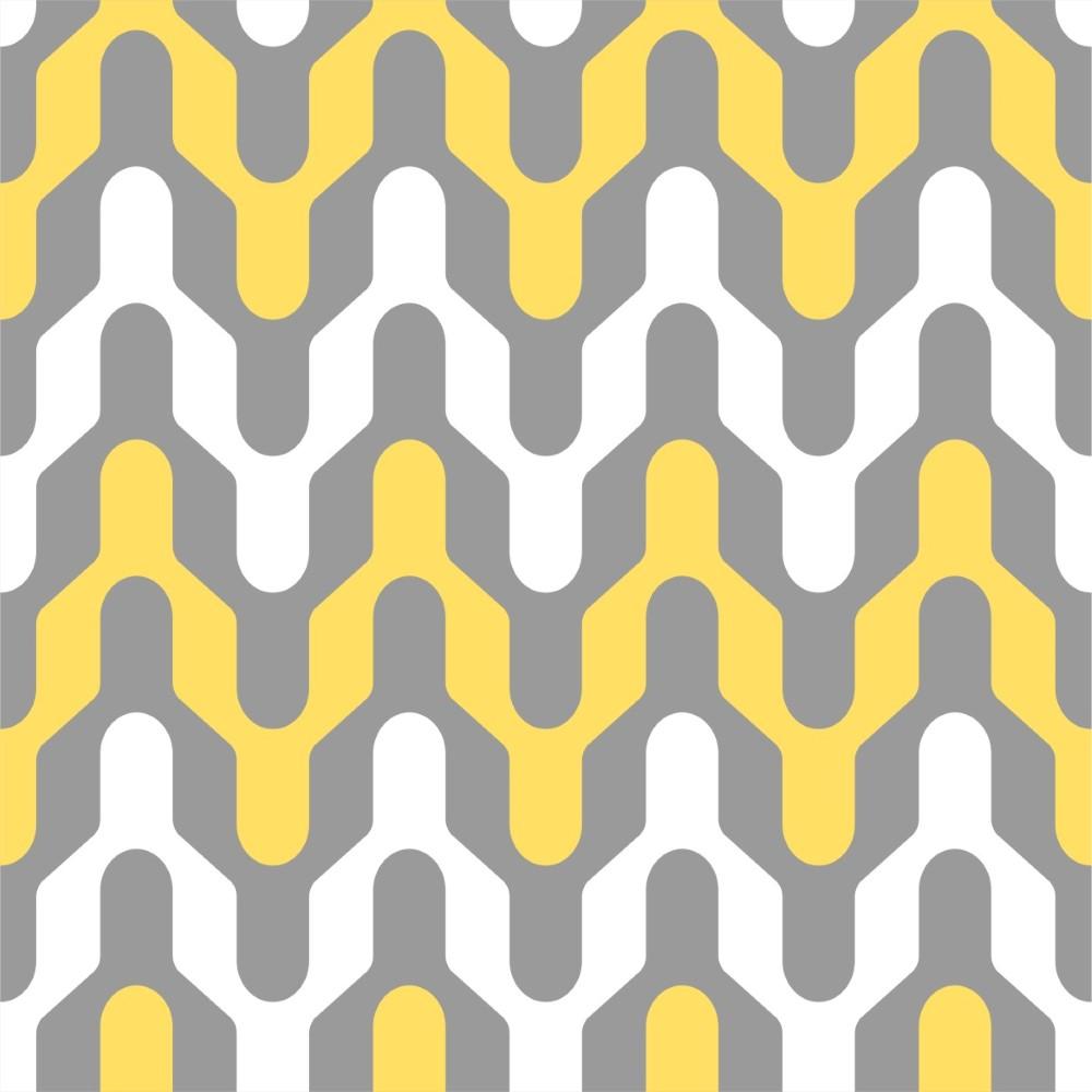 Artesanato Portugues Revenda ~ Papel de Parede Adesivo Geométrico Branco Amarelo e Cinza StickDecor