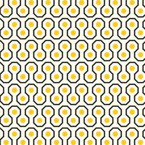 Papel de Parede Adesivo Geométrico Amarelo e Preto