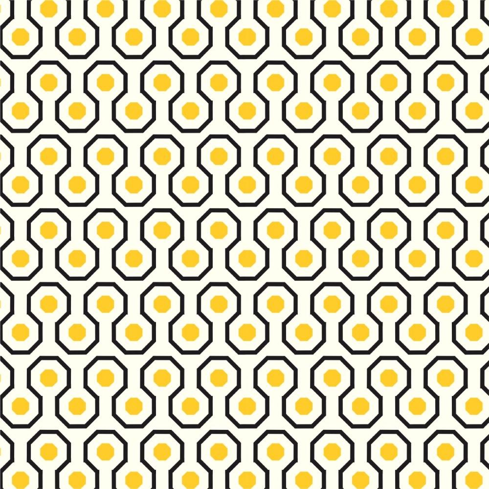 Adesivo De Parede Geométrico ~ Papel de Parede Adesivo Geométrico Amarelo e Preto StickDecor