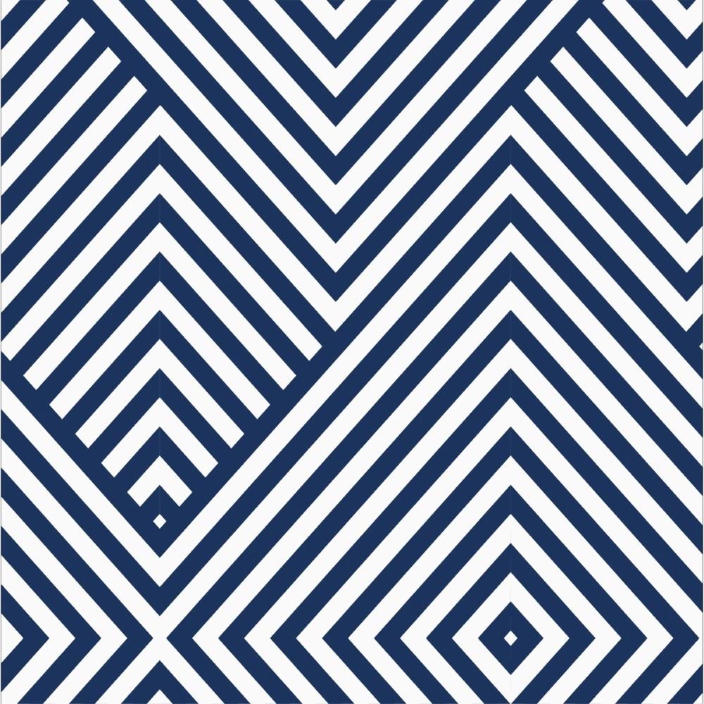 Papel de parede adesivo geom trico azul e branco 007 - Papel de pared de rayas ...