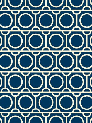 Papel de Parede Adesivo Geométrico Azul
