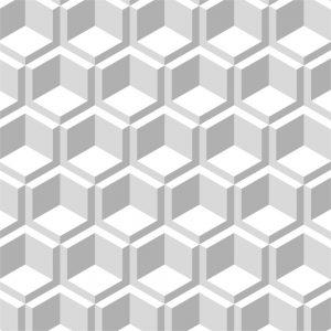 Papel de Parede Adesivo Geométrico Branco