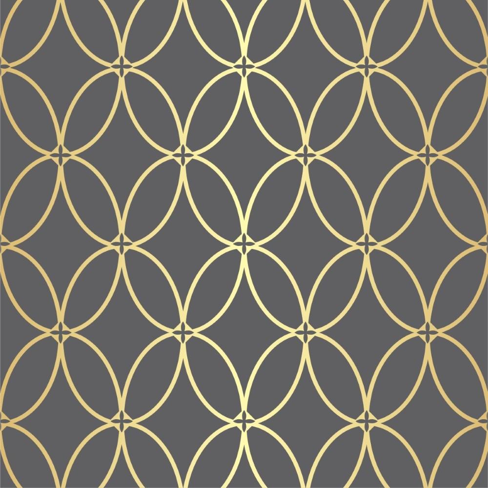 Papel de parede adesivo geom trico cinza e dourado for Papel de pared dorado