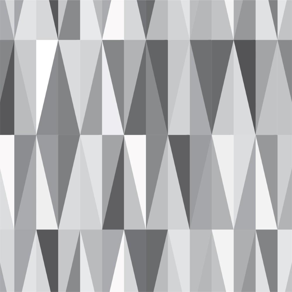 Papel de Parede Adesivo Geométrico Cinza - StickDecor a78af1c591