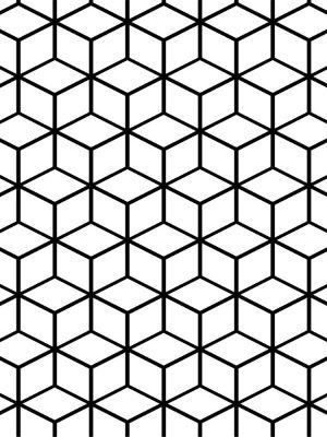 Papel de Parede Adesivo Geométrico Cubos