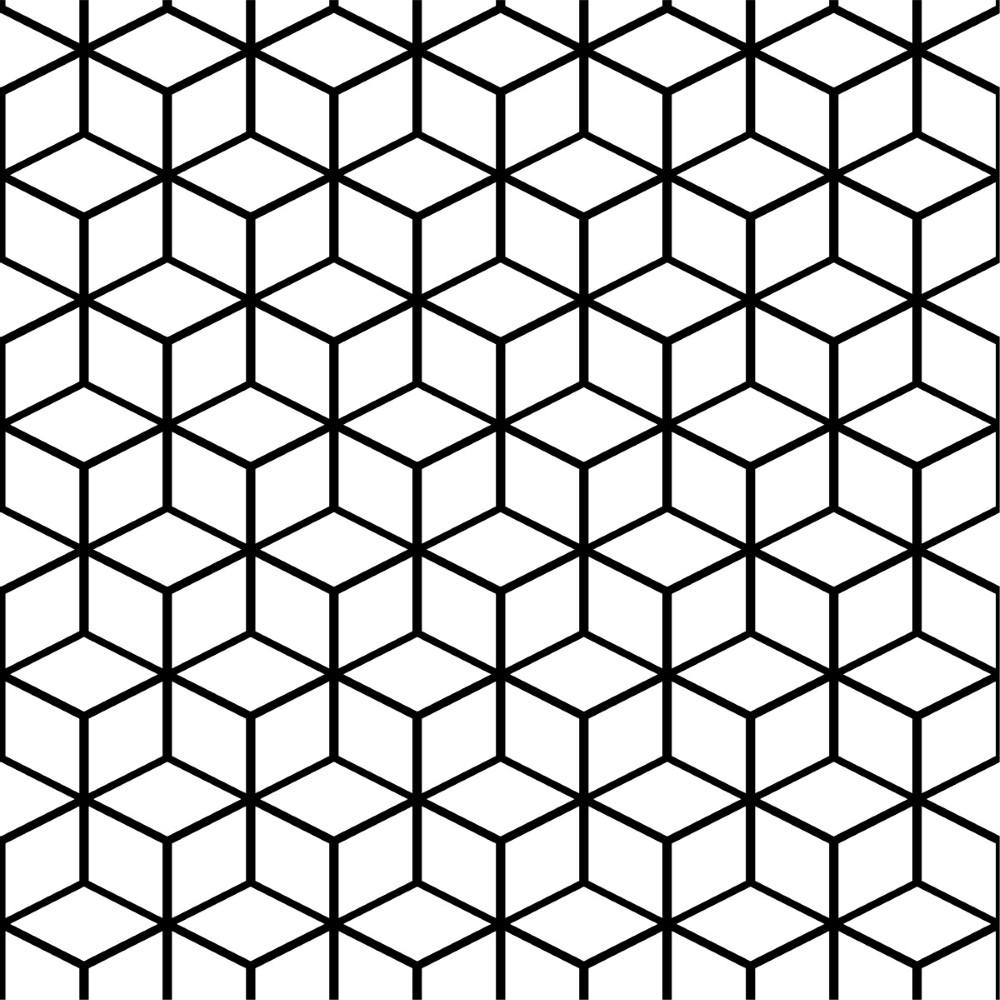 Papel De Parede Geometrico Cubos Stickdecor
