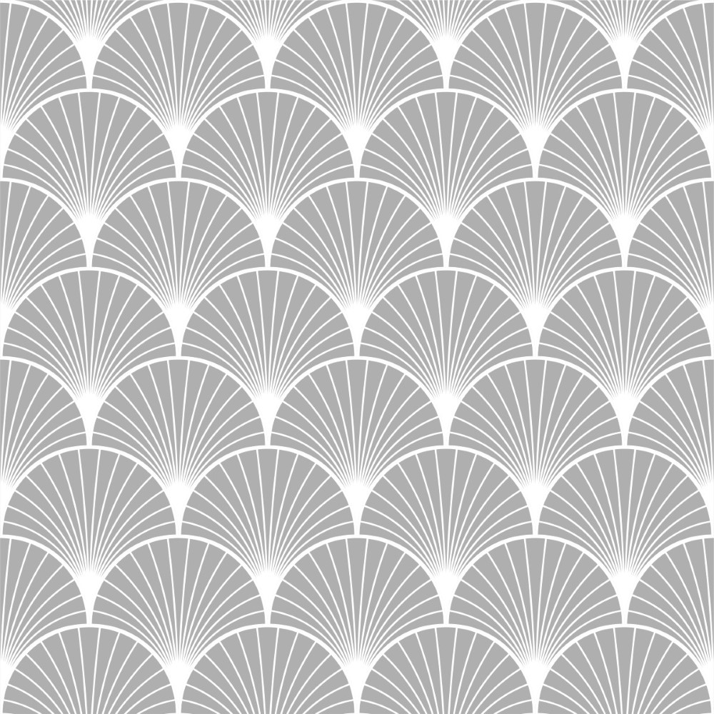 Papel de parede adesivo geom trico deco cinza stickdecor - Paredes de papel ...