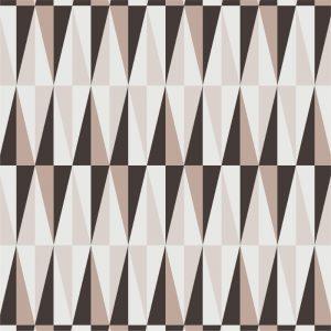 Papel de Parede Adesivo Geométrico Marrom e Branco