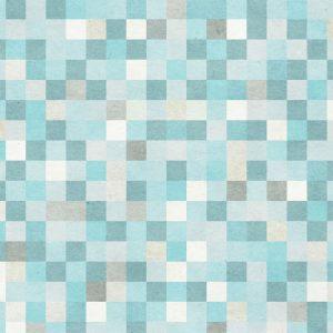 Papel de Parede Adesivo Geométrico Mosaico Azul