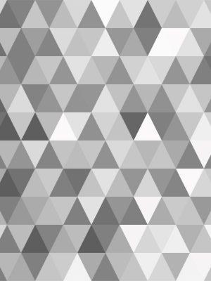 Papel de Parede Adesivo Geométrico Mosaico Cinza