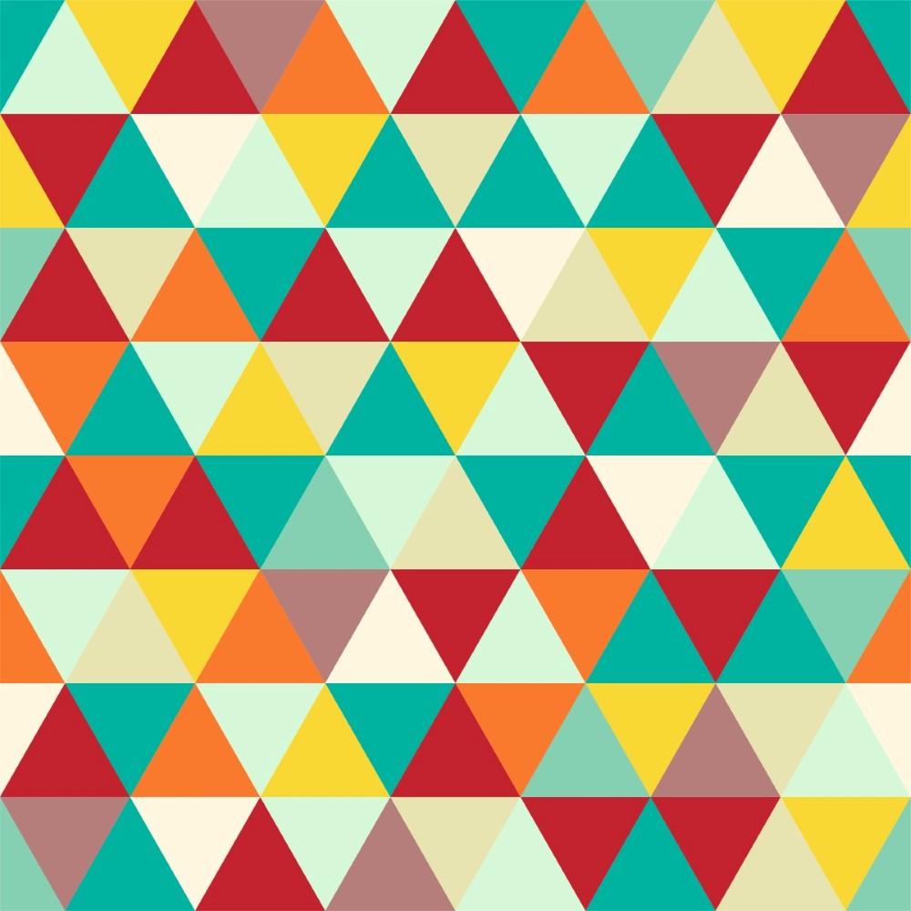 Armario Nicho Quarto ~ Papel de Parede Adesivo Geométrico Mosaico Colorido StickDecor